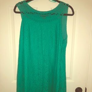 Jessica Howard 16 teal lace dress plus size